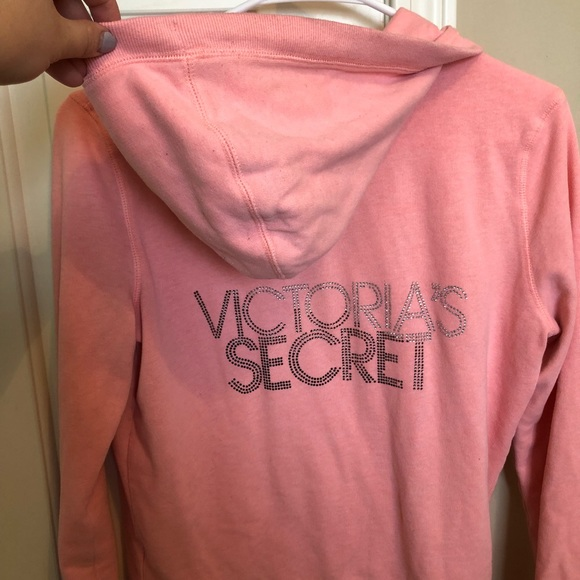 Victorias Secret Sweatshirt Sequin Pullover Top Pink Supermodel Angel Love M Nwt